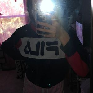 FILA long sleeve crop top, sweatshirt